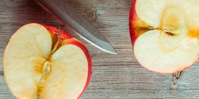 oxydation sur une pomme